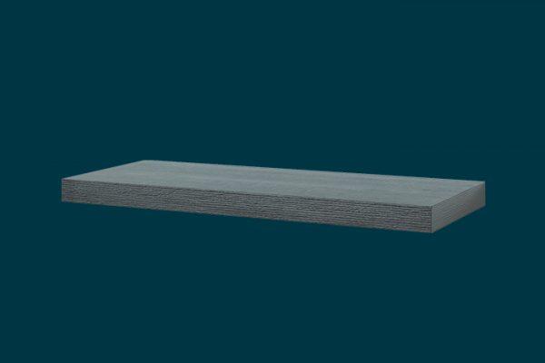 Flexi Storage Decorative Shelving Floating Shelf Ash Oak 600 x 240 x 38mm isolated