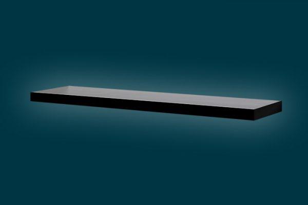 Flexi Storage Decorative Shelving Floating Shelf Black Gloss 900 x 240 x 38mm isolated