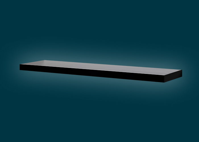 Floating Shelf Black Gloss 900x240x38mm