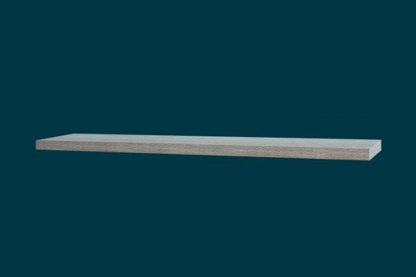 Flexi Storage Decorative Shelving Floating Shelf Grey Oak 1200 x 240 x 38mm isolated