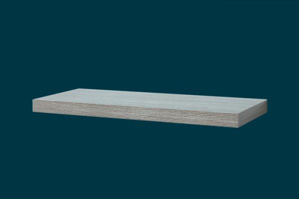 Flexi Storage Decorative Shelving Floating Shelf Grey Oak 600 x 240 x 38mm isolated