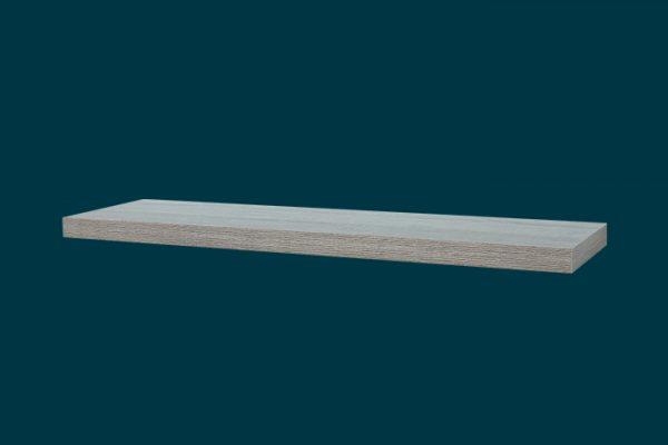 Flexi Storage Decorative Shelving Floating Shelf Grey Oak 900 x 240 x 38mm isolated