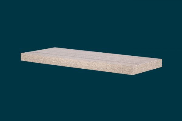 Flexi Storage Decorative Shelving Floating Shelf Oak 600 x 240 x 38mm isolated