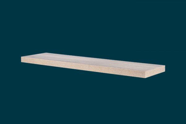Flexi Storage Decorative Shelving Floating Shelf Oak 900 x 240 x 38mm isolated