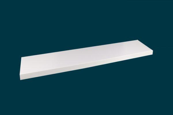 Flexi Storage Decorative Shelving Style Shelf White Matt 600 x 190 x 24mm isolated