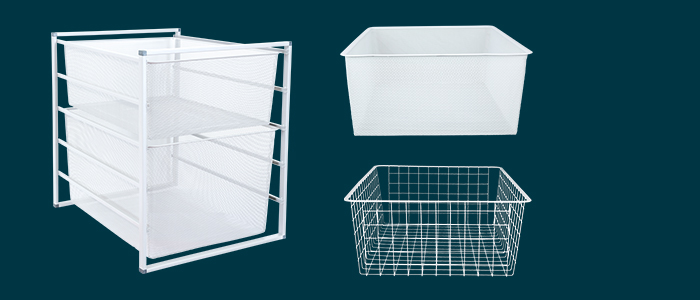 Flexi Storage Home Solutions Wire Baskets and Frames isolated