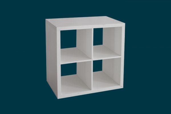 Flexi Storage Clever Cube 2 x 2 Cube White Storage Unit isolated