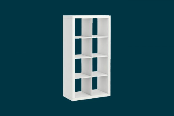 Flexi Storage Clever Cube 2 x 4 Cube White Storage Unit isolated