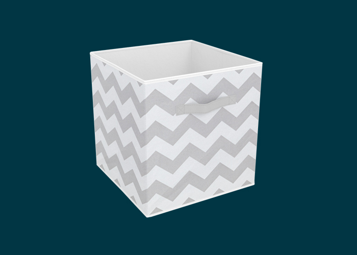 Clever Cube Compact Fabric Insert Cool Grey Chevron