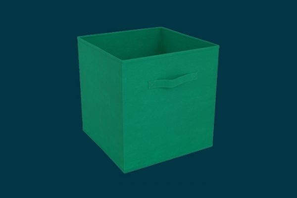 Flexi Storage Clever Cube Compact Fabric Jungle Green isolated
