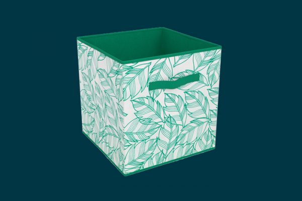 Flexi Storage Clever Cube Compact Fabric Insert Leaf isolated
