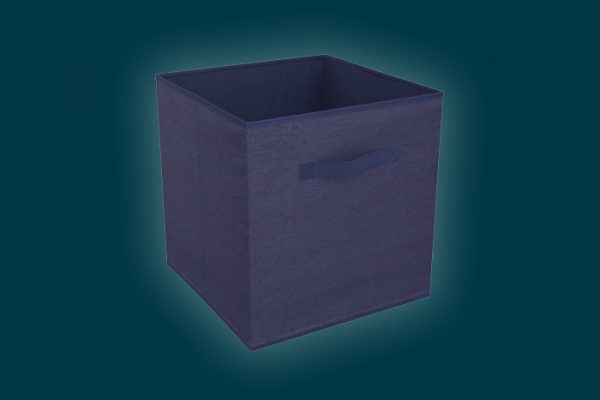 Flexi Storage Clever Cube Compact Fabric Navy Blue isolated