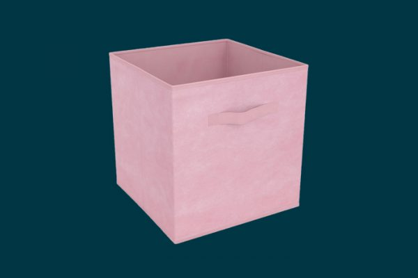 Flexi Storage Clever Cube Compact Fabric Insert Pale Pink isolated