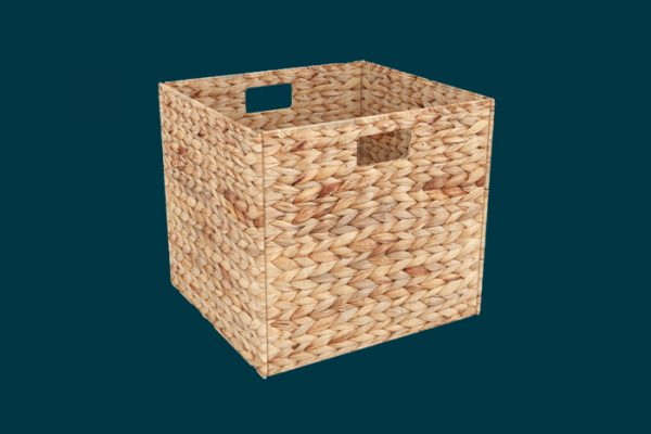 Flexi Storage Clever Cube Natural Insert Water Hyacinth isolated