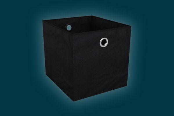 Flexi Storage Clever Cube Premium Fabric Insert Ember Black isolated