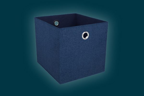 Flexi Storage Clever Cube Premium Fabric Insert Steel Blue isolated
