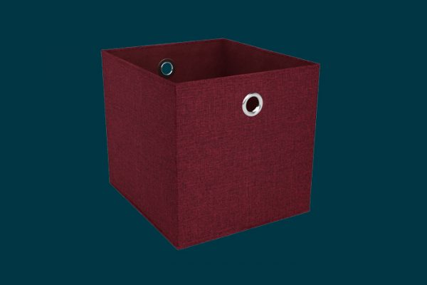 Flexi Storage Clever Cube Premium Fabric Insert Woven Tango isolated