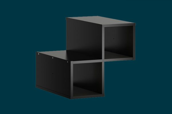Flexi Storage Clever Cube Timber Insert Divider Black isolated