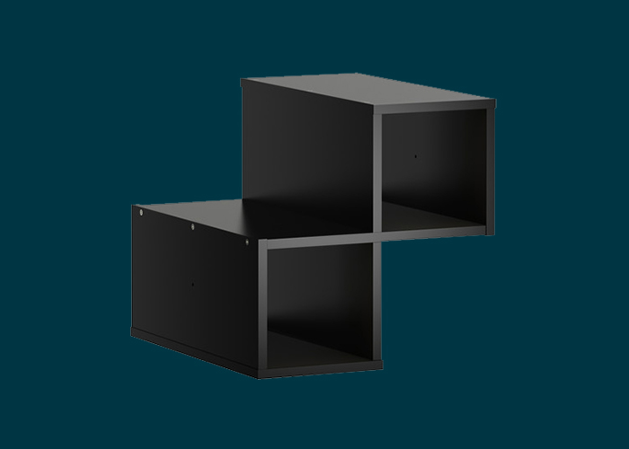 Clever Cube Timber Insert Divider Black