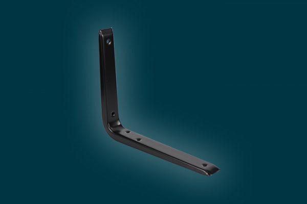 Flexi Storage Decorative Shelving Reinforced Bracket Black 250x200mm isolated