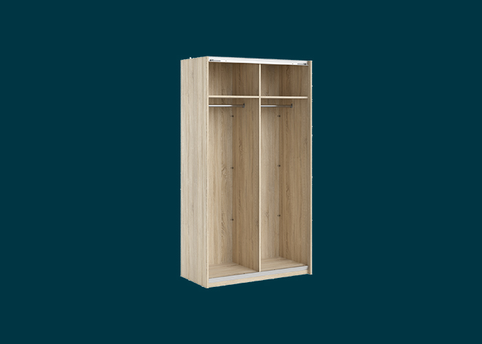 Sliding Wardrobe 2 Door Frame Oak