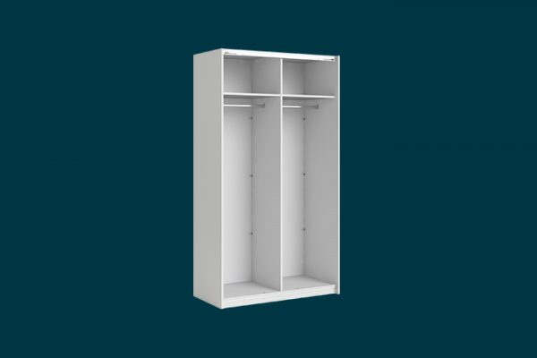 Flexi Storage Wardrobe 2 Door Sliding Wardrobe Frame White isolated