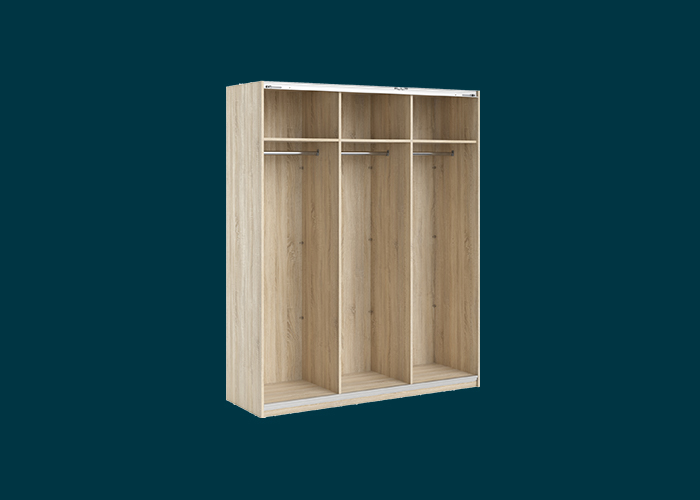 Sliding Wardrobe 3 Door Frame Oak