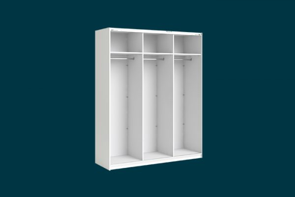 Flexi Storage Wardrobe 3 Door Sliding Wardrobe Frame White isolated