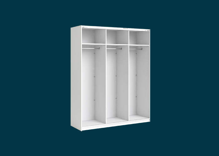 Sliding Wardrobe 3 Door Frame White