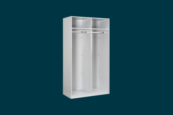 Flexi Storage Wardrobe Hinged Wardrobe 2 Door Frame White isolated