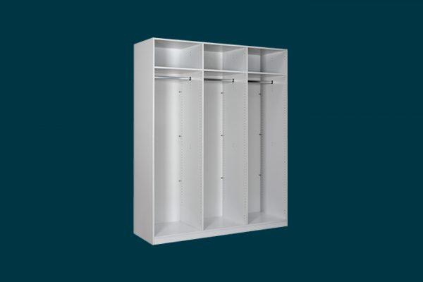 Flexi Storage Wardrobe Hinged Wardrobe 3 Door Frame White isolated