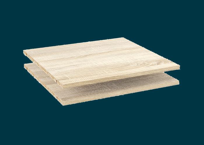 Sliding Wardrobe 2 Shelves Oak