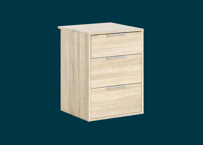 Sliding Wardrobe 3 Drawer Insert Oak