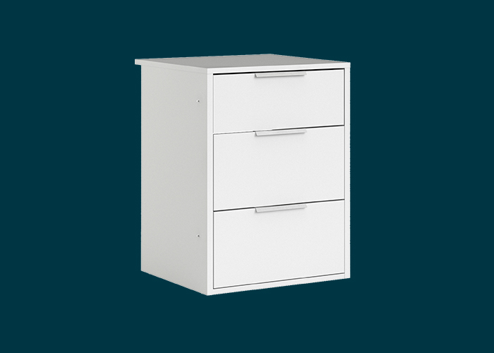 Sliding Wardrobe 3 Drawer Insert White