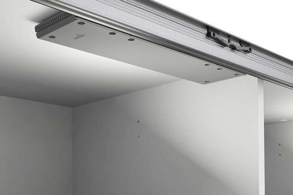 Flexi Storage Wardrobe Sliding Wardrobe Soft Closing Device Centre fitted in 3 Door Sliding Wardrobe White