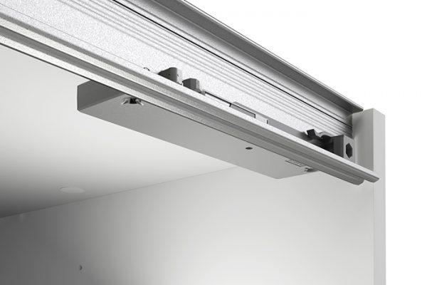 Flexi Storage Wardrobe Sliding Wardrobe Soft Closing Device Left & Right fitted in 2 Door Sliding Wardrobe White