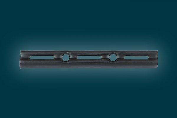 Flexi Storage Home Solutions 145mm Single Slot Wall Strip Black isolated