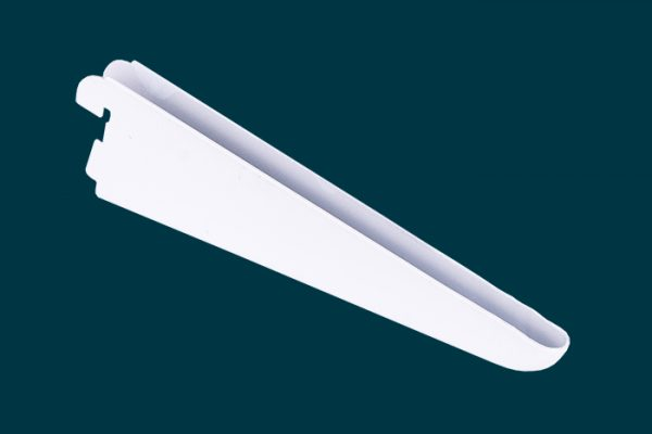 Flexi Storage Home Solutions 170mm Double Slot Bracket White isolated