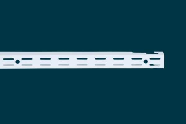 Flexi Storage Home Solutions 762mm Double Slot Wall Strip White isolated