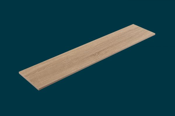 Flexi Storage Home Solutions Timber Shelf Oak 1200x250x16mm isolated