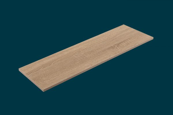 Flexi Storage Home Solutions Timber Shelf Oak 900x250x16mm isolated