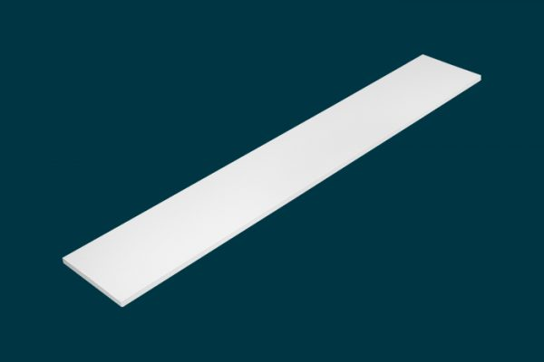 Flexi Storage Home Solutions Timber Shelf White 1200x200x16mm isolated