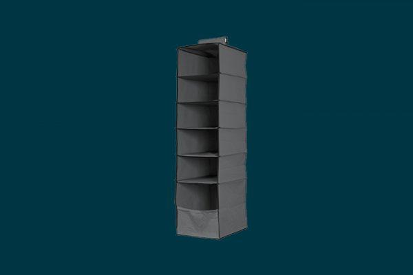 Flexi Storage 6 Shelf Premium Hanging Organiser isolated