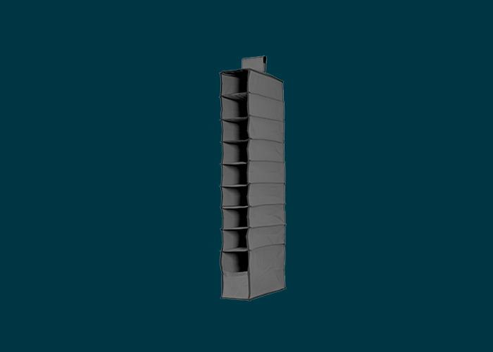 9 Shelf Premium Hanging Organiser Dark Grey