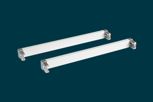 Flexi Storage Home Solutions 230mm Cross Bars and L Connectors White isolated