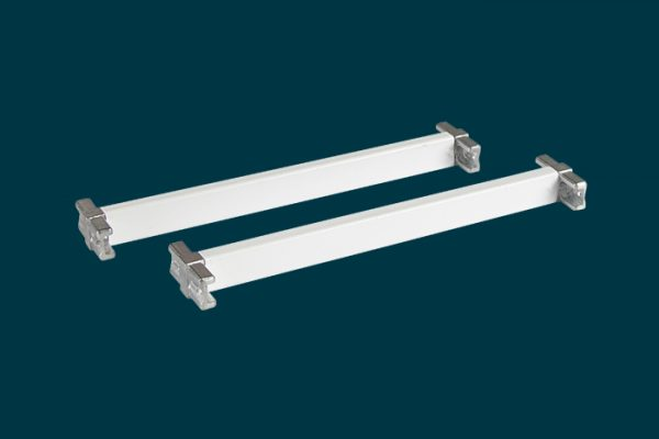 Flexi Storage Home Solutions 230mm Cross Bars and T Connectors White isolated