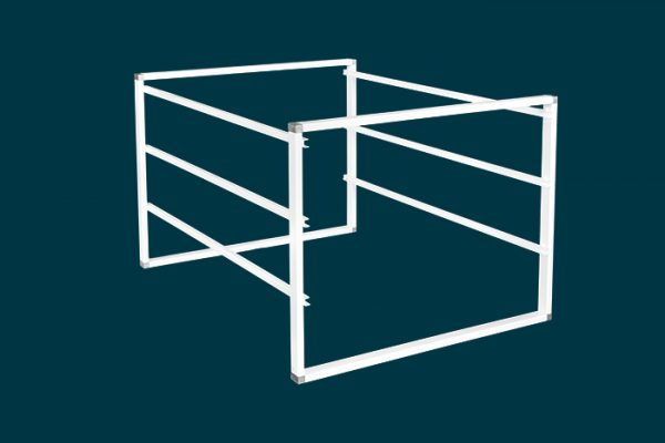 Flexi Storage Home Solutions 3 Runnner Frame White constructed with 435mm Cross Bars