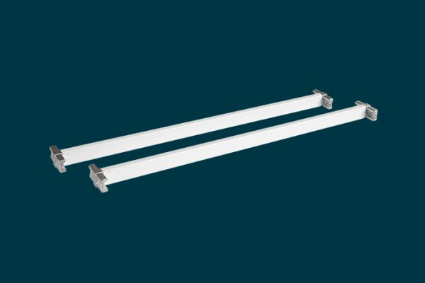 Flexi Storage Home Solutions 435mm Cross Bars and T Connectors White isolated