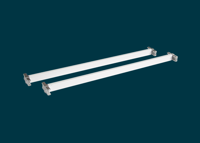 Home Solutions 435mm Cross Bars & T-Connector White