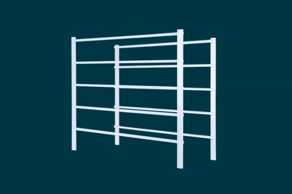 Flexi Storage Home Solutions 5 Runnner Frame White isolated